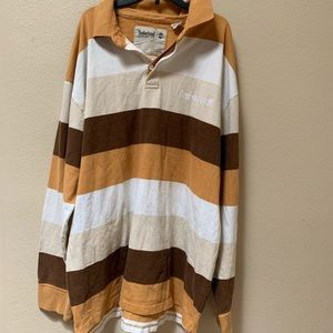 Timberland striped long sleeved polo